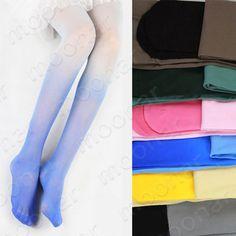 Gradient Sexy Women Pantyhose Tights Stretchy Silk Stockings Socks Leggings