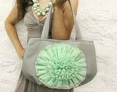 gray mint green