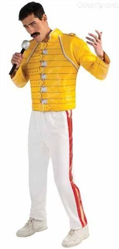 Freddie Mercury Wembley Concert Yellow Biker Jacket Faux Leather Coat Costume Features : Internal premium poleyester lining Collar Stand up collar Color yellow Material grade A Synthetic Leather 2 pockets inside with finest stitched Trouser M. Best 80s Costumes, Celebrity Costumes, Lady Gaga Costume, Queen Costume, Freddie Mercury, Michael Jackson Costume, 80s Outfit, Costume Collection, Costume Shop