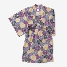 Haori Long Jacket Muslin Wool Chrysanthemum Burst 30% OFF : SOU • SOU US Online Store