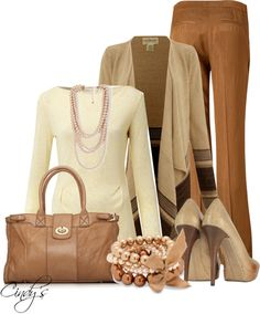 """""""Loving The Browns"""" by cindycook10 ❤ liked on Polyvore"""