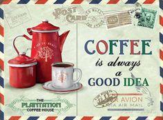 Coffee - Good Idea Peltikyltit AllPosters.fi-sivustossa
