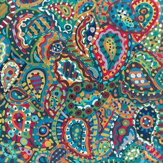 Abstract Paisley Painting  - Abstract Paisley Fine Art Print