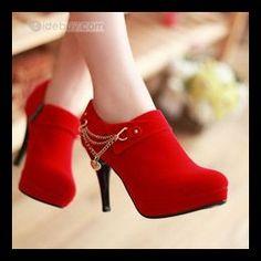 Elegant stiletto heel red shoes  - Enchanted Fairy