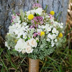 Rustic Wildflower Bridal Bouquet