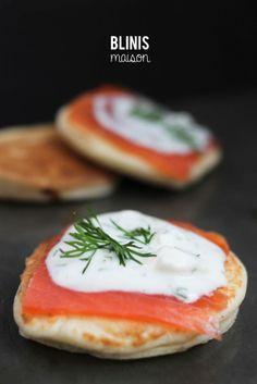 Blinis maison au saumon  #blinis #salmon #saumon #apero