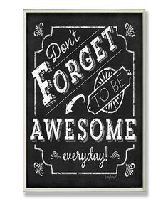 Let your awesome out today. :: 'Be Awesome' Inspirational Chalkboard Wall Plaque