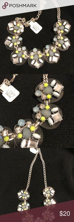 Loft statement necklace. Rhinestones chain NWT-loft statement necklace with resin beads and rhinestones. Adjustable clasp. Brand new never worn LOFT Jewelry Necklaces