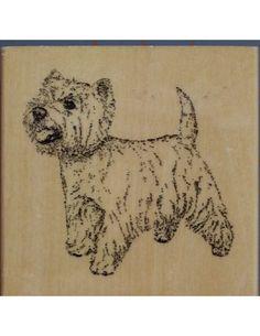 West Highland Terrier Westie rubber stamp