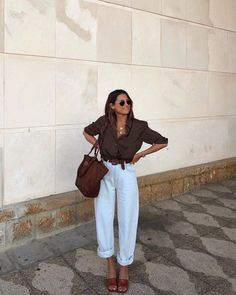 Fashion Tips Hijab Spring fashion 2020 - white pants.Fashion Tips Hijab Spring fashion 2020 - white pants Fashion Mode, Fashion 2020, Look Fashion, Korean Fashion, Womens Fashion, 70s Fashion, Hippie Fashion, Classy Fashion, Petite Fashion