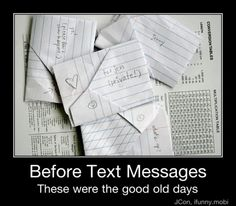 Before Text Messages!!! OMG remember all the cool ways we'd fold notes!!!