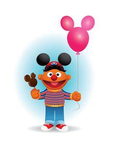 Ernie Goes To Disneyland by Jerrod Maruyama, via Flickr