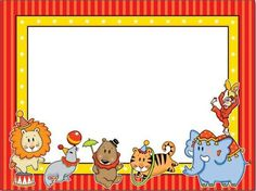Bordes con animales para imprimir, puedes rodear las fotos de tus niños con estos bordes o confeccionar invitaciones infantiles para la fie...