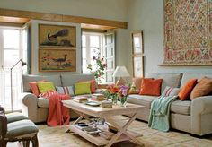 Orange & Green Rustic House | Inspiring Interiors