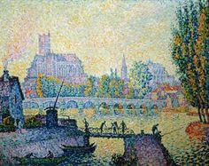 Paul Signac - Auxerre, pont sur l'Yonne