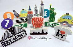The designer is a friend of mine and I'm trying to get her to do cookies for Campus Caterng...Flour Box Bakery — New York State of Mind Cookies