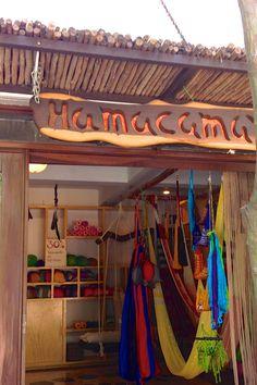 A hammock store in Playa del Carmen, Mexico. Handmade hammocks are a popular travel souvenir.