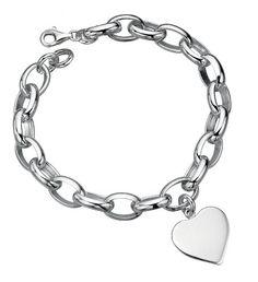 Links bracelet with heart charm
