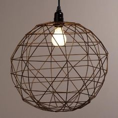 One of my favorite discoveries at WorldMarket.com: Bronze Round Twisted Wire Pendant Lamp