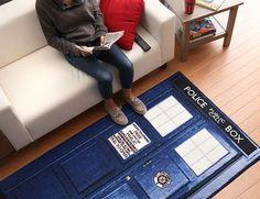 ThinkGeek :: Doctor Who TARDIS Rugs :: $69