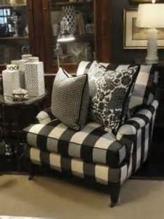 buffalo check black and cream drapes curtains - - Yahoo Image Search Results