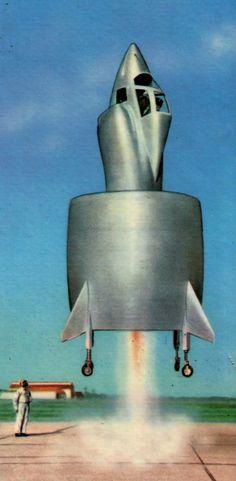 Futuristic imagery: 'Reader's Digest', 1960 Retro Futuristic, Futuristic Design, Science Fiction, Retro Rocket, Space Cowboys, Vintage Space, Space Race, Atomic Age, Googie