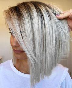 Straight Lob For Thin Fine Hair Bob Hairstyles For Fine Hair, Haircuts For Fine Hair, Cool Haircuts, Scene Hairstyles, Short Straight Hair, Short Hair Cuts, Straight Razor, Medium Hair Styles, Curly Hair Styles