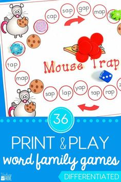 Word family games ar