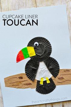 Cupcake Liner Toucan Craft