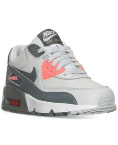 31b5dbaa282 Nike Big Girls' Air Max 90 Leather Running Sneakers from Finish Line &  Reviews - Finish Line Athletic Shoes - Kids - Macy's