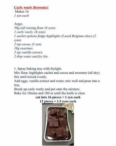Curly wurly brownies
