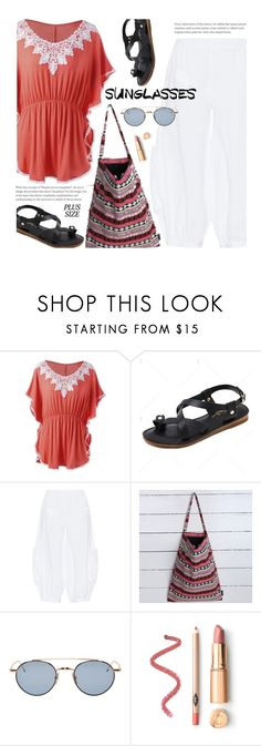 """Beach Day (plus size)"" by beebeely-look ❤ liked on Polyvore featuring Kekoo, Thom Browne, beachday, beachstyle, plussize, curvy and twinkledeals"