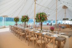 Sperry tent, with florals by Lucy Macnicoll Floral Design