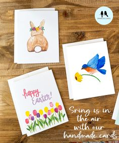 Hand Painted in Watercolour on heavy weight cold press paper Compliment Bird Card Blank Inside