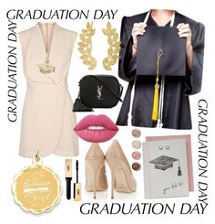 """""""Untitled #87"""" by allexamaria ❤ liked on Polyvore featuring Finders Keepers, Eddera, Kevin Jewelers, Yves Saint Laurent, Lime Crime, Terre Mère and graduationdaydress"""
