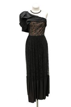 Cabaret Vintage - 1950s Black Lace One shoulder Cocktail Dress, $265.00 (http://www.cabaretvintage.com/new-arrivals/1950s-black-lace-one-shoulder-cocktail-dress/)