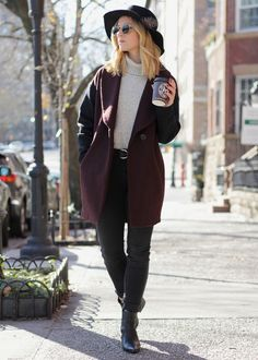 My go to winter outfit lately has consisted of black skinnies, a turtleneck sweater, and this felt hat. See more on the blog! | http://ithinkthereforeidress.com/blog/simplify-simplify-x-the-winter-uniform | I Think, Therefore I Dress | #ootd #winteroutfitideas #style