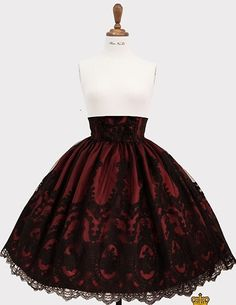 Haenuli The Promise of Eternal High-Waist Skirt Gothic Lolita Dress, Gothic Lolita Fashion, Cute Casual Outfits, Pretty Outfits, High Waisted Skirt, Waist Skirt, Japanese Fashion, Dream Dress, Fashion Outfits