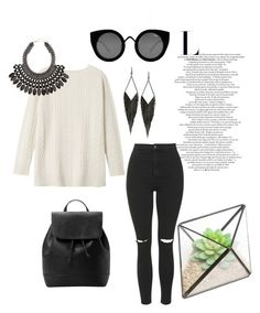 """Untitled #183"" by mylifeasstefany ❤ liked on Polyvore featuring Quay, Toast, Topshop, GUESS, MANGO and H&M"