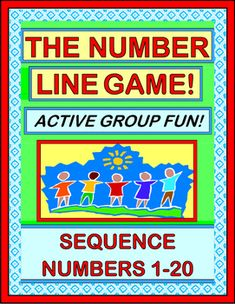 "Put some 'MOVES' in your NUMBER SEQUENCING 1-20 ACTIVITIES! Your kids will play a GROUP GAME as their numbers ""move on down that Number Line"" and get put in sequence. NUMBER CARDS and easy SONG directions are included-- no music skills needed! (14 pages) From Joyful Noises Express TpT!  $"