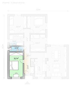 projekty domů - projekt domu v tvaru L - LINK