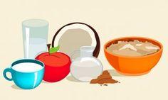 Papa doce de maça, canela e iogurte