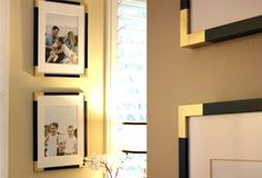 Upgrade the Look of Black Picture Frames with Spray Paint and Painters Tape
