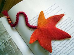 Waldorf Autumn Leaf Bookmark PDF Sewing Pattern by Rumpelfeltskin