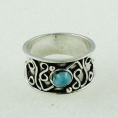 Turquoise Stone Exotic Design 925 Sterling Silver Ring by JaipurSilverIndia on Etsy