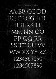 XXII Totenkult - Font by Doubletwo Studios , via Behance