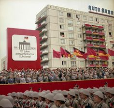 East Germany in 1986 celebrating 25 years of the Berlin Wall. Kind of a sad thing and all of the people of East Berlin had to attend. East Germany, Berlin Germany, Ddr Brd, Berlin Hauptstadt, Ddr Museum, Warsaw Pact, Berlin Wall, Berlin City, The Future Is Now