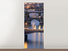 Tür #Tapete Brücken in Prag