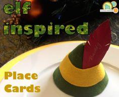 Felt Elf Hat Place Cards tutorial