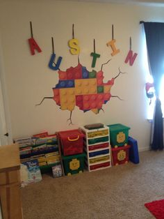 My sons new Lego room